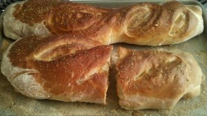 Homemade French bread by Michon